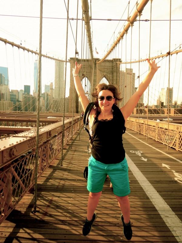 On the Brooklyn bridge, NY September 2014